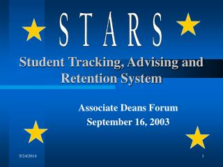 Student Tracking, Advising and Retention System
