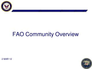 FAO Community Overview
