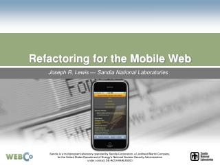 Refactoring for the Mobile Web
