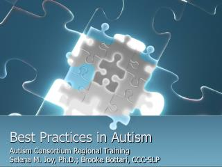 Best Practices in Autism