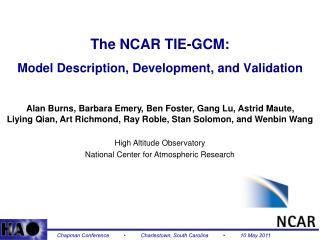 The NCAR TIE-GCM: Model Description, Development, and Validation