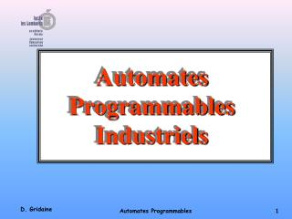 Automates Programmables