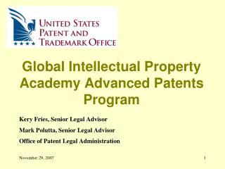 Global Intellectual Property Academy Advanced Patents Program