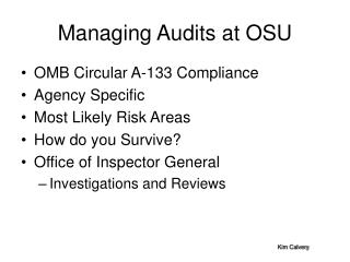 Managing Audits at OSU