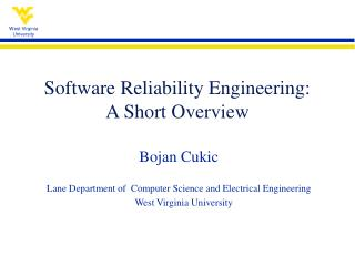 Software Reliability Engineering:  A Short Overview