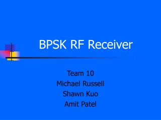BPSK RF Receiver
