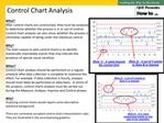 Control Chart Analysis