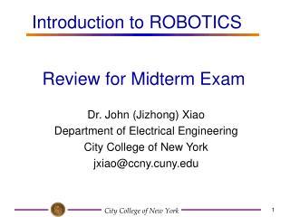 Review for Midterm Exam