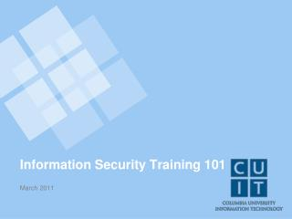Information Security Training 101