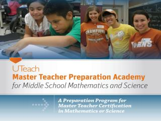 UT Austin Structure  Masters Degrees and Master Teacher Certification