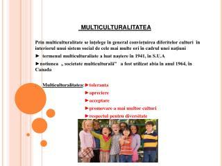 Multiculturalitatea