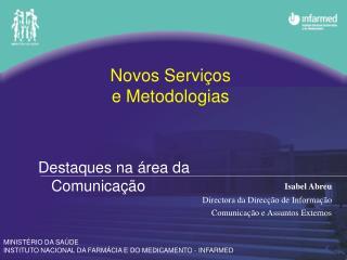 Novos Servi os  e Metodologias