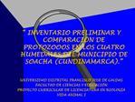INVENTARIO PRELIMINAR Y COMPARACI N DE PROTOZOOOS EN LOS CUATRO HUMEDALES DEL MUNICIPIO DE SOACHA CUNDINAMARCA.    UNI