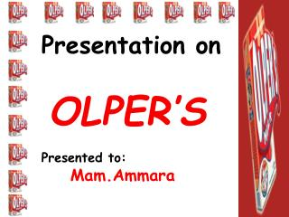 Group No 9, Presentation on OLPERS Milk by - BZU PAGES