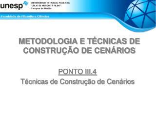 METODOLOGIA E T CNICAS DE CONSTRU  O DE CEN RIOS