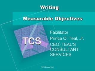 Writing       Measurable Objectives