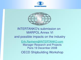 INTERTANKOs submission on   MARPOL Annex VI and possible impacts on the industry