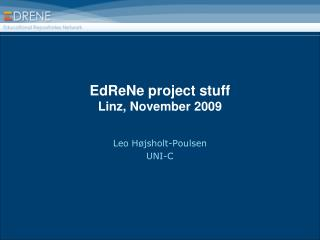 EdReNe project stuff Linz, November 2009