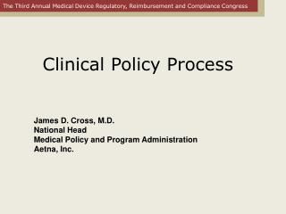 Clinical Policy Process