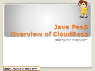 10. Java PaaS - Overview of CloudBees