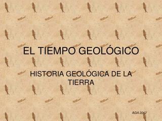 EL TIEMPO GEOL GICO
