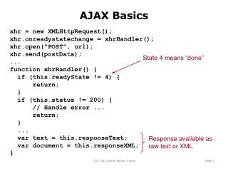 AJAX Basics