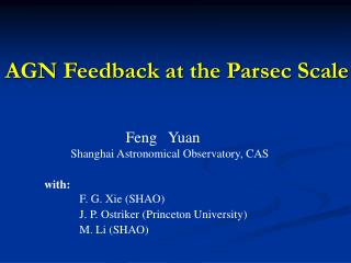 AGN Feedback at the Parsec Scale