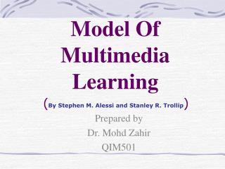 Model Of Multimedia Learning