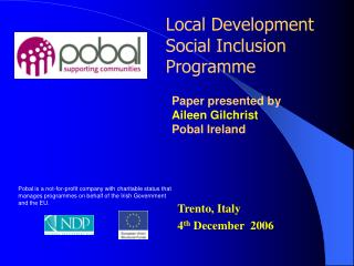 Local Development Social Inclusion Programme