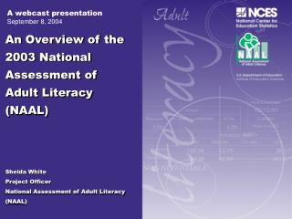 The Health Literacy  Component HLC  of the 2003 NAAL
