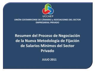 Resumen de Metodolog a de Ajuste Salarial Vigente: Concertaci n 1998