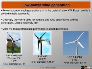 Low-power wind generation