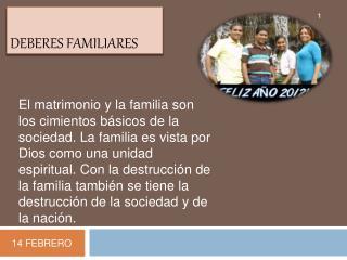 DEBERES FAMILIARES