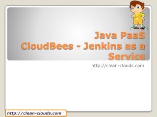 13.CloudBees - Jenkins as a Service