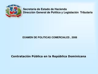 Secretar a de Estado de Hacienda Direcci n General de Pol tica y Legislaci n  Tributaria