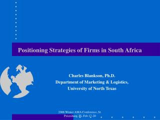 Positioning Strategies of Firms in South Africa