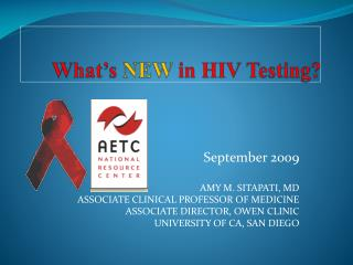 What s NEW in HIV Testing