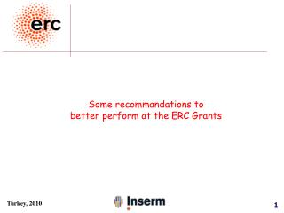 Some recommandations to  better perform at the ERC Grants