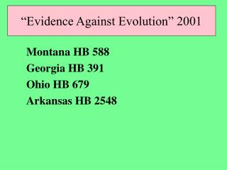 -so antievolutionists will argue that the Supreme Court mandates teaching  scientific alternatives to evolution  -- whic