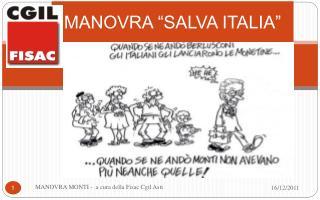 MANOVRA  SALVA ITALIA