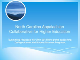 North Carolina Appalachian Collaborative for Higher Education