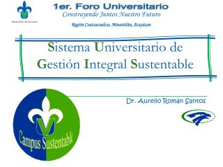 Sistema Universitario de Gesti n Integral Sustentable