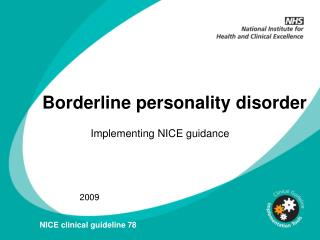 Borderline personality disorder BPD: slide set POWERPOINT ...