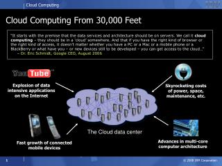 Cloud Computing From 30,000 Feet