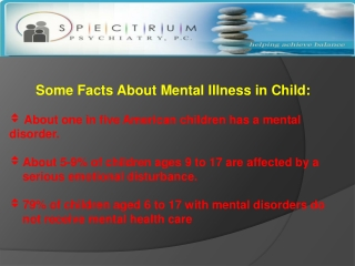 Mental Illness in Children and Adolescents