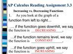 AP Calculus Reading Assignment 3.3