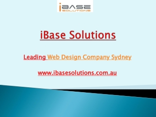 Website Design, Web Development and SEO Company Sydney