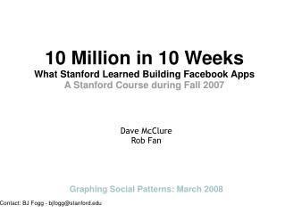 Ten Million in Ten Weeks: What Stanford Learned Building Fac