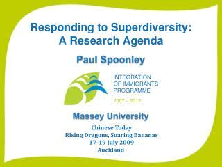 Responding to Superdiversity:  A Research Agenda