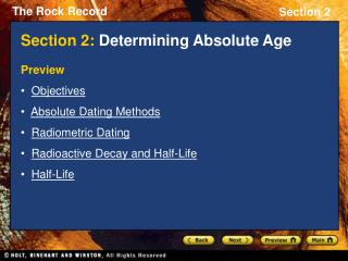 Section 2: Determining Absolute Age